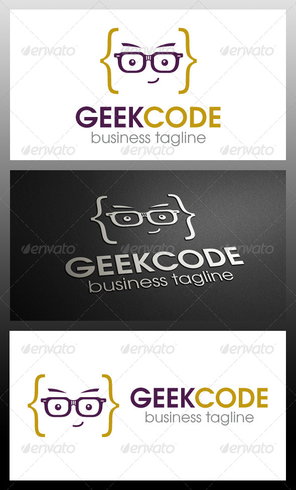 GraphicRiver Geek Code Logo Template 5711979