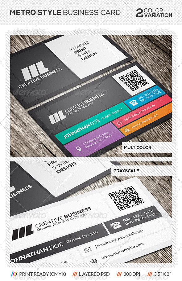 GraphicRiver Metro Style Business Card 5711994