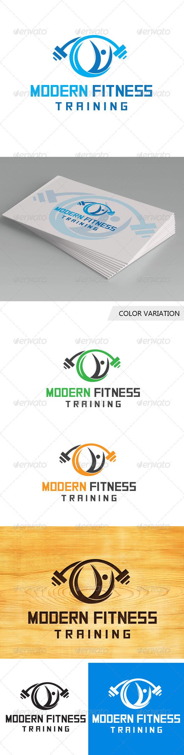 GraphicRiver Modern Fitness Logo Template 5712238