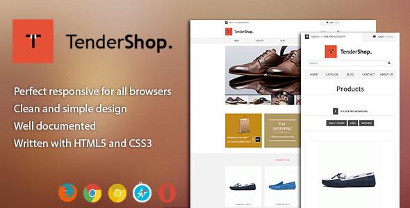 ThemeForest Tendershop Minimal Responsive Shopify Theme 5688343