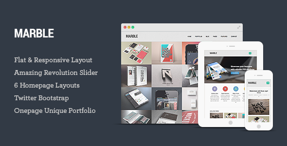 ThemeForest Marble Flat Responsive HTML5 Template 5712272