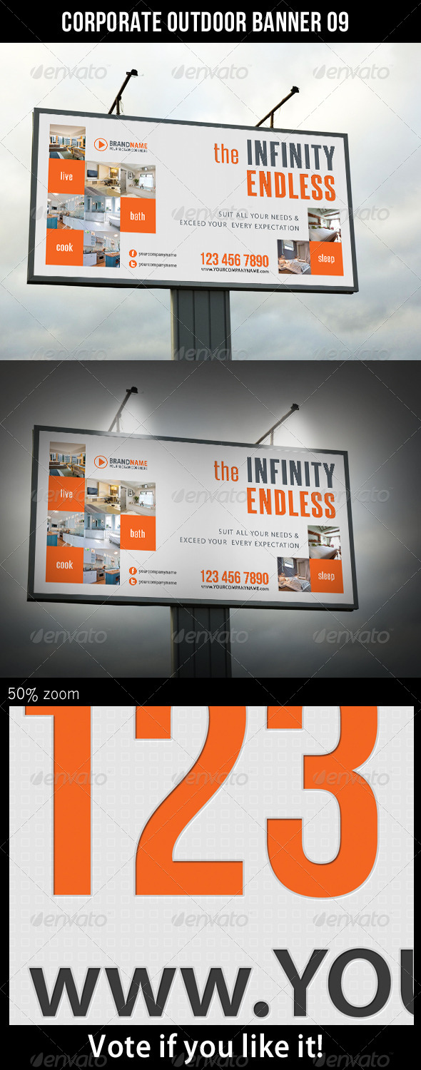 Corporate Outdoor Banner 09 - Signage Print Templates