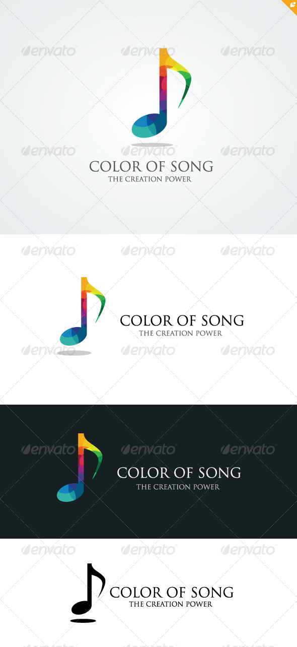 GraphicRiver Color of Song Logo 5712646