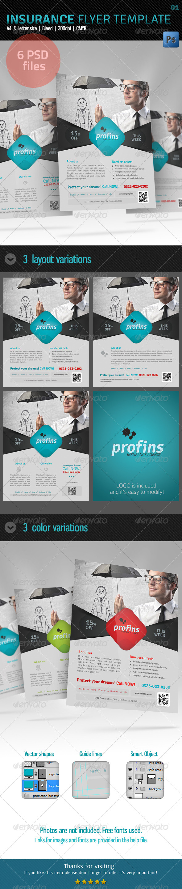 GraphicRiver Insurance Flyer Template 01 5712652