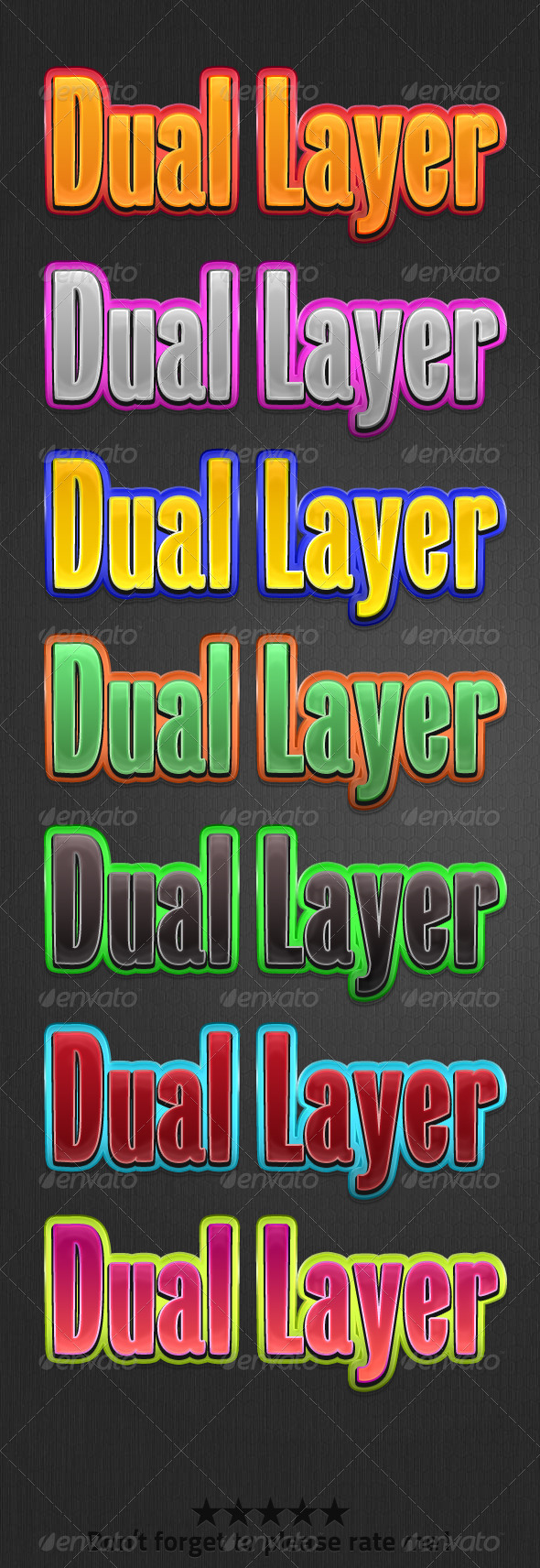 Dual Layer Style - Text Effects Actions