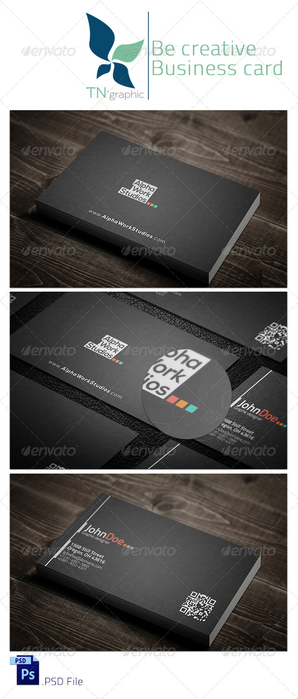 GraphicRiver Be Creative V Business Card 5712687