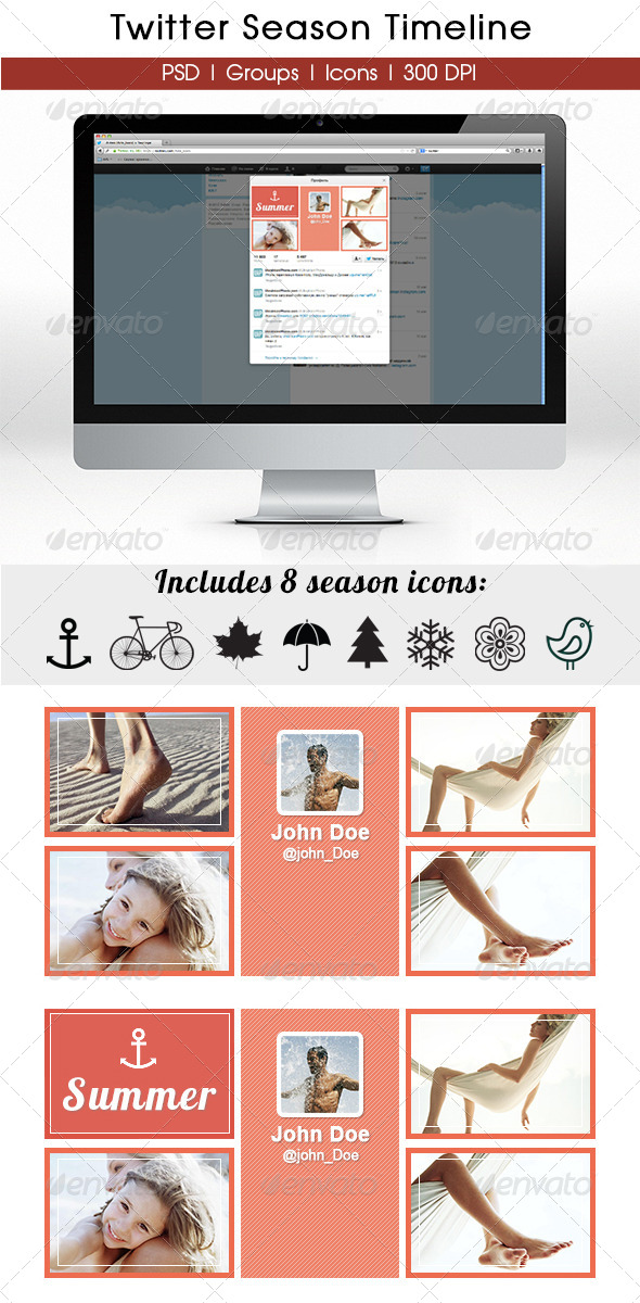 GraphicRiver Season Twitter Timeline 5712692