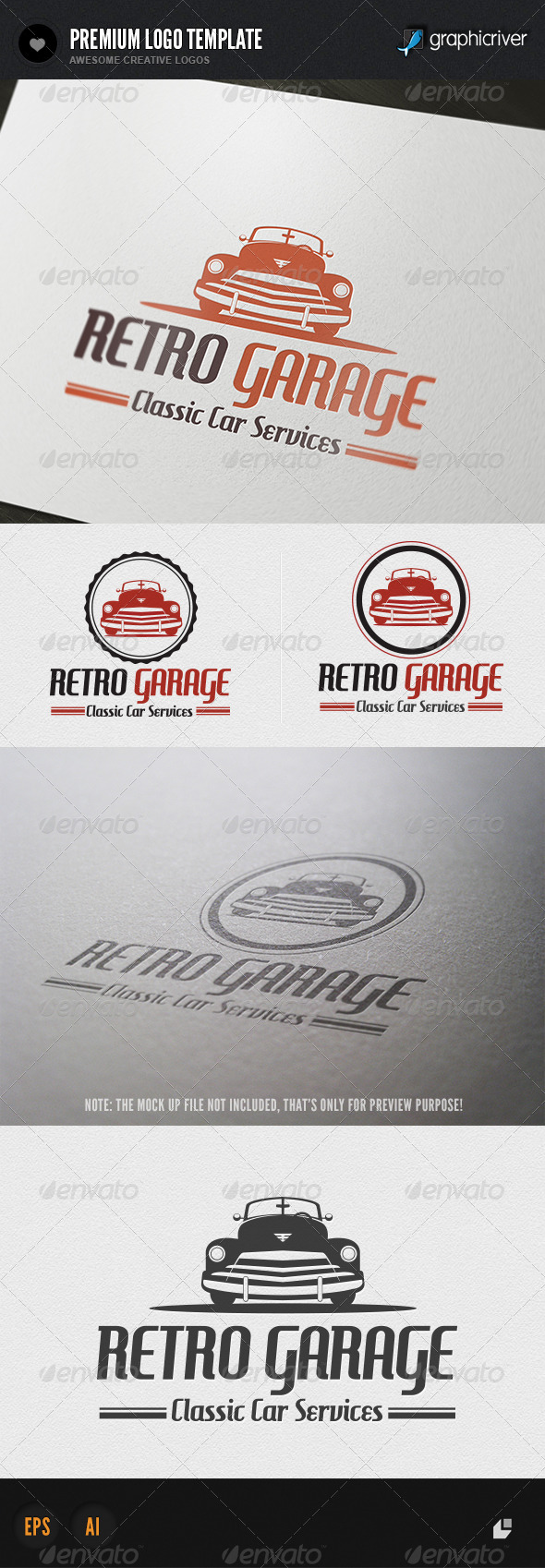 GraphicRiver Retro Garage Logo 5712725