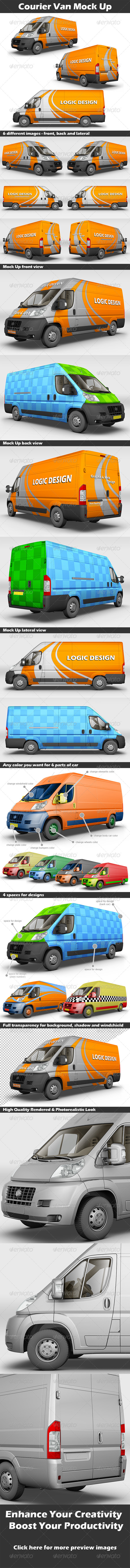 GraphicRiver Courier Van Mock Up 5712741