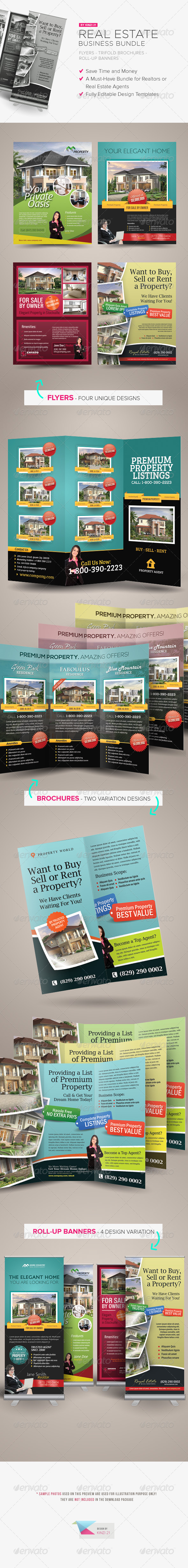 GraphicRiver Real Estate Business Bundle 5712775
