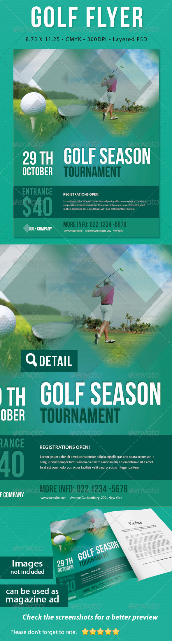GraphicRiver Golf Flyer Print Ad 5712777