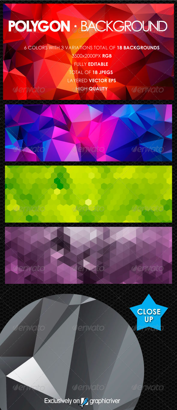 GraphicRiver Polygon Background Vol 1 5712987