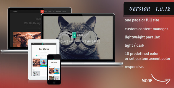 ThemeForest Asobar Creative Business One Page 5687227