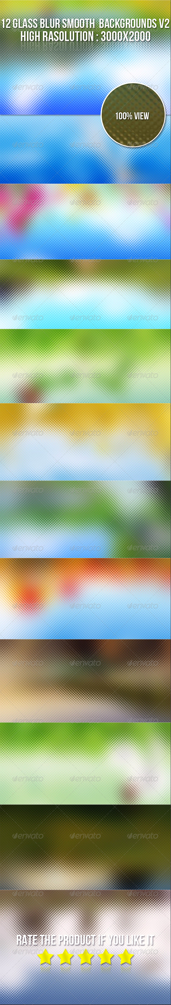 GraphicRiver 12 Glass Blur Backgrounds V2 5713267