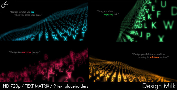 After Effects Project - VideoHive Text Matrix 556688