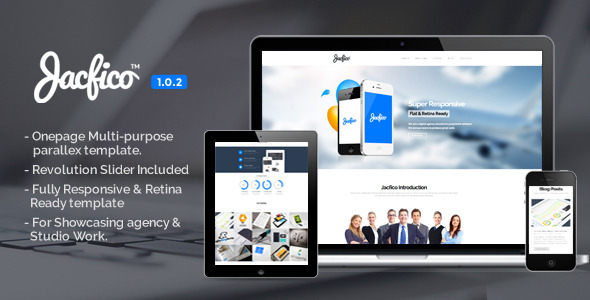 ThemeForest Jacfico Responsive Onepage Parallex Template 5679543