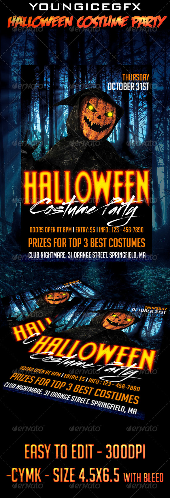 GraphicRiver Halloween Costume Party Flyer 5507660