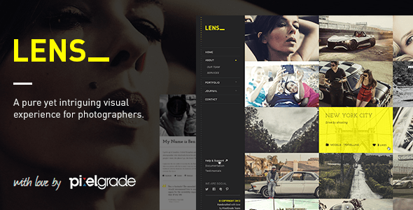 Lens portfolio theme wordpress