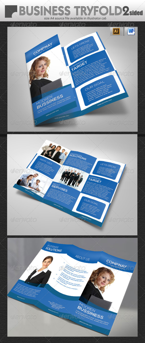 GraphicRiver Consulting Tri-Fold Brochure Design 5713904