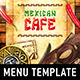 Mexican Menu Template - GraphicRiver Item for Sale