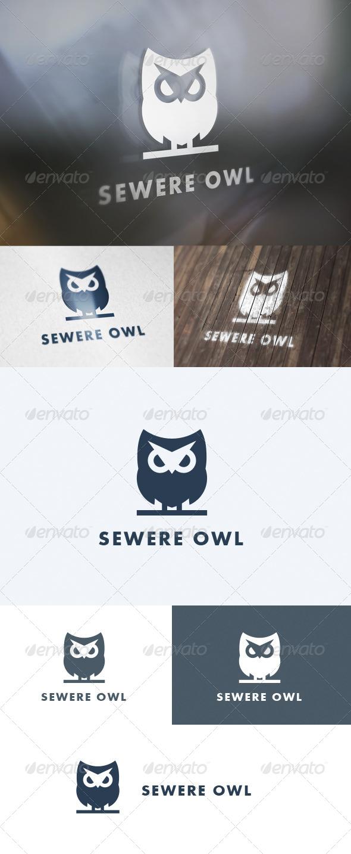 GraphicRiver Severe Owl Logo 5686422