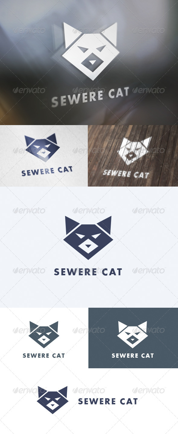 GraphicRiver Severe Cat Logo 5705910