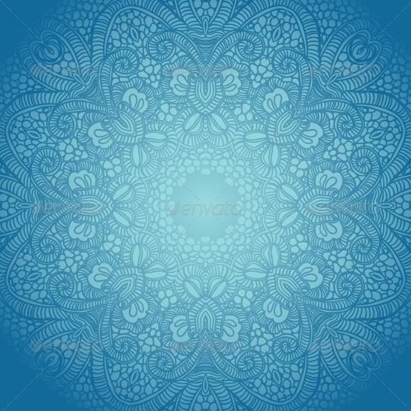 GraphicRiver Vector Ornamental Round Lace 5714579