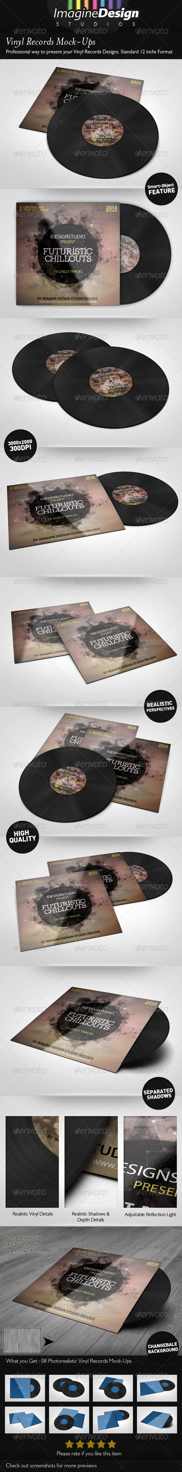 GraphicRiver Vinyl Records Mock-ups 5714608