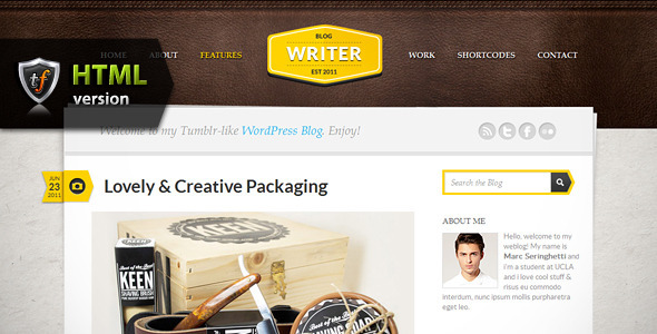 Writer - Blogging HTML Theme - Portfolio Creative