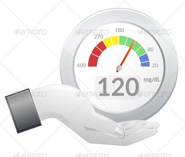 GraphicRiver Glucose Meter Share Illustration 5715533
