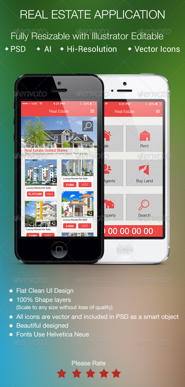 GraphicRiver Real Estate Application for Smartphones 5716482