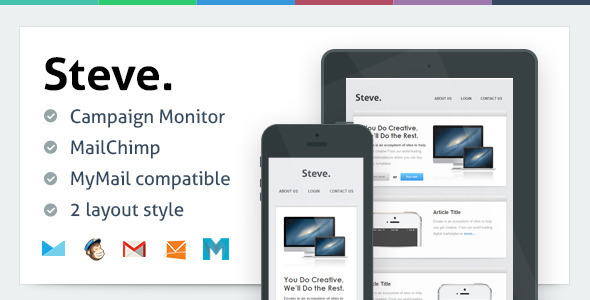 ThemeForest Steve Responsive Email Template 5716484