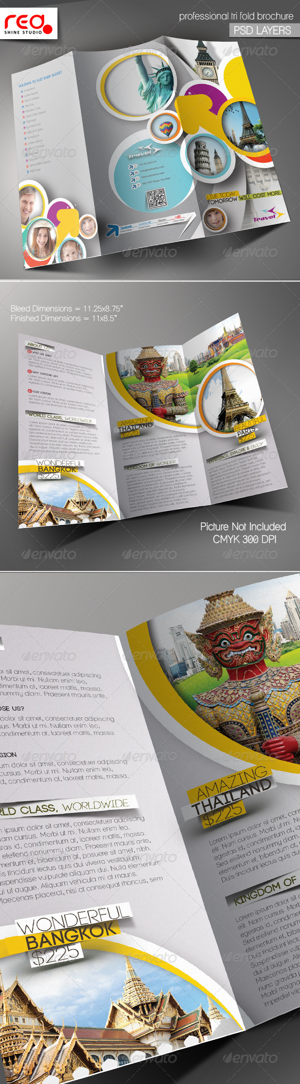 GraphicRiver Travel Agency Trifold Brochure Template 5716511
