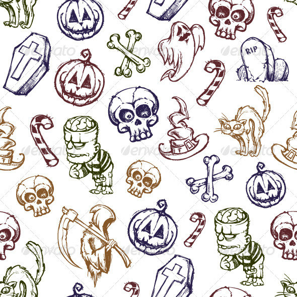 GraphicRiver Halloween Seamless Texture 5716673