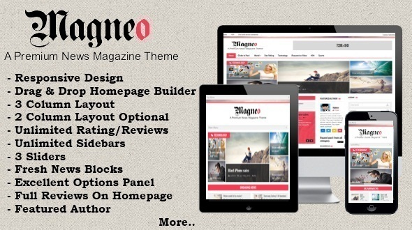 ThemeForest Magneo-Responsive News Magazine Theme 5632182