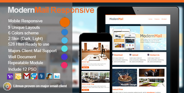 ThemeForest ModernMail Responsive E-mail Templates 5716679