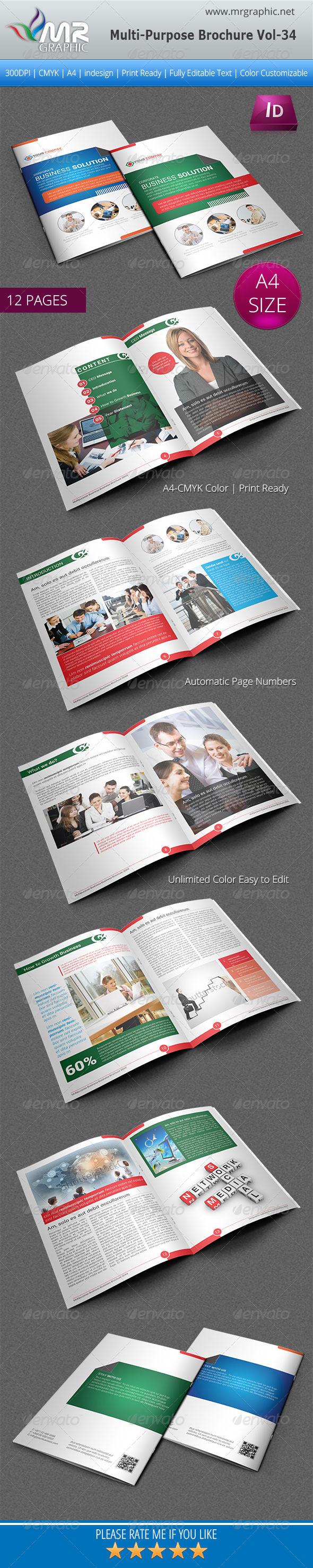 GraphicRiver Multipurpose Business Brochure Template Vol-34 5716695