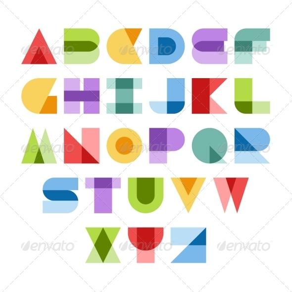 GraphicRiver Colorful Font 5716901