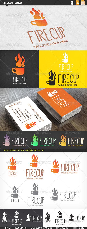 GraphicRiver Firecup Logo 5717103