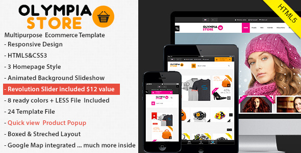 Olympia responsive Html5 eCommerce