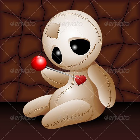 GraphicRiver Voodoo Doll Cartoon in Love 5717227