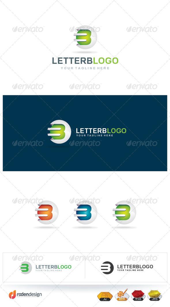 Letter B 3D logo - Letters Logo Templates