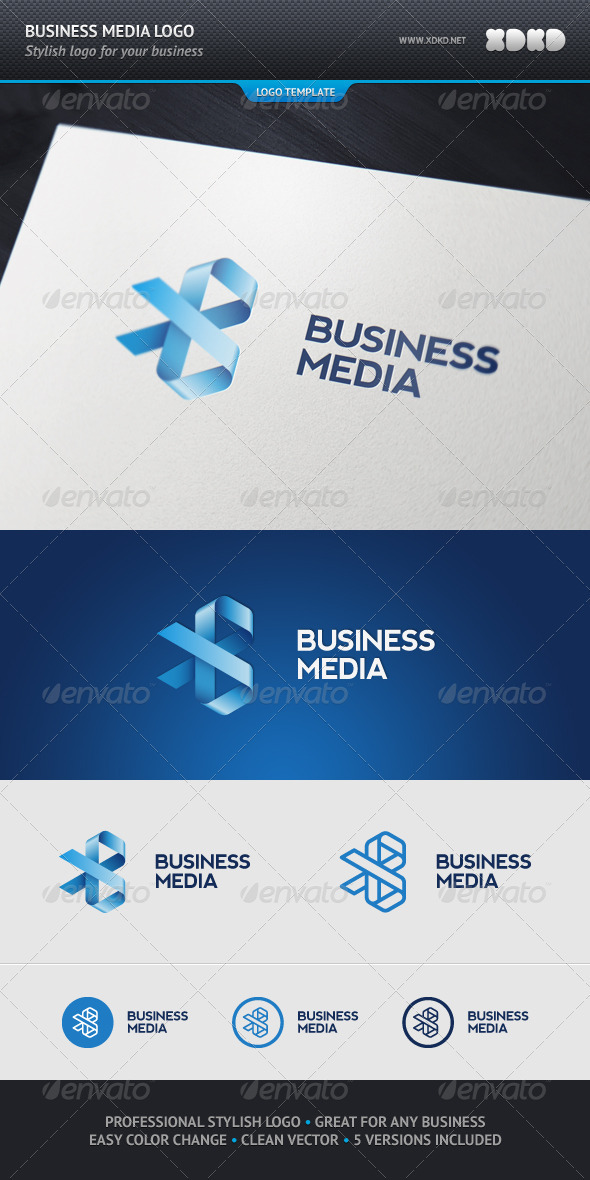 Business Media Logo Template - Abstract Logo Templates