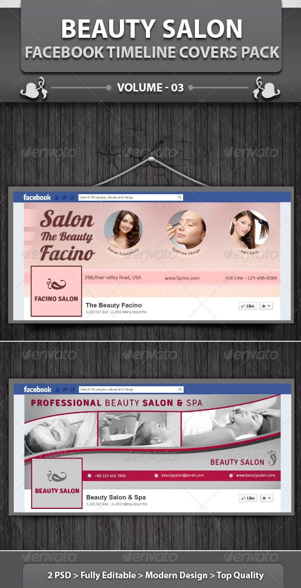 GraphicRiver Beauty Salon Facebook Timeline Covers Pack v3 5697383