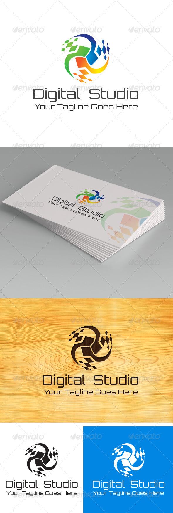 GraphicRiver Digital Studio Logo template 5717565