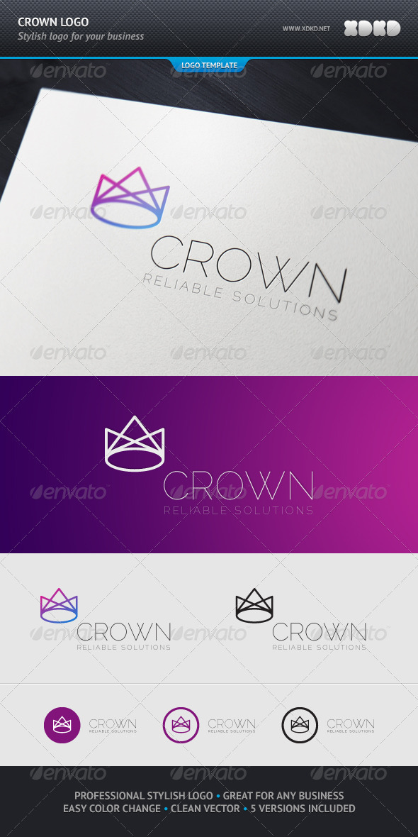 Crown Logo Template - Abstract Logo Templates