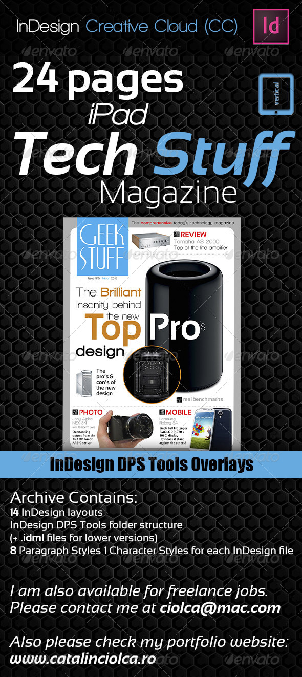 GraphicRiver 24 Pages iPad Tech Stuff Magazine 5562895