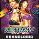 Futuristic Retro Party Flyer - GraphicRiver Item for Sale