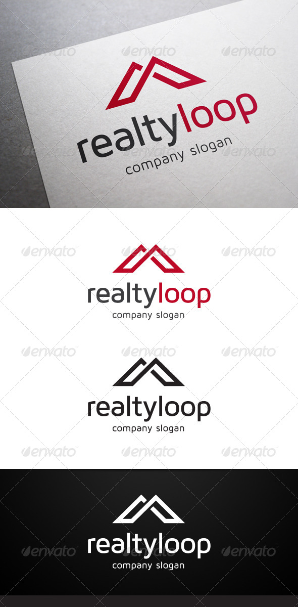 GraphicRiver Realty Loop Logo 5718135