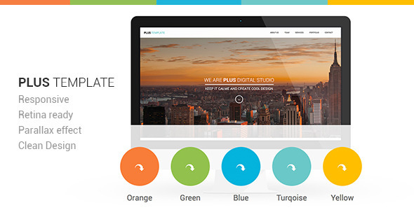 ThemeForest Plus Responsive Retina Ready One-Page Template 5718149